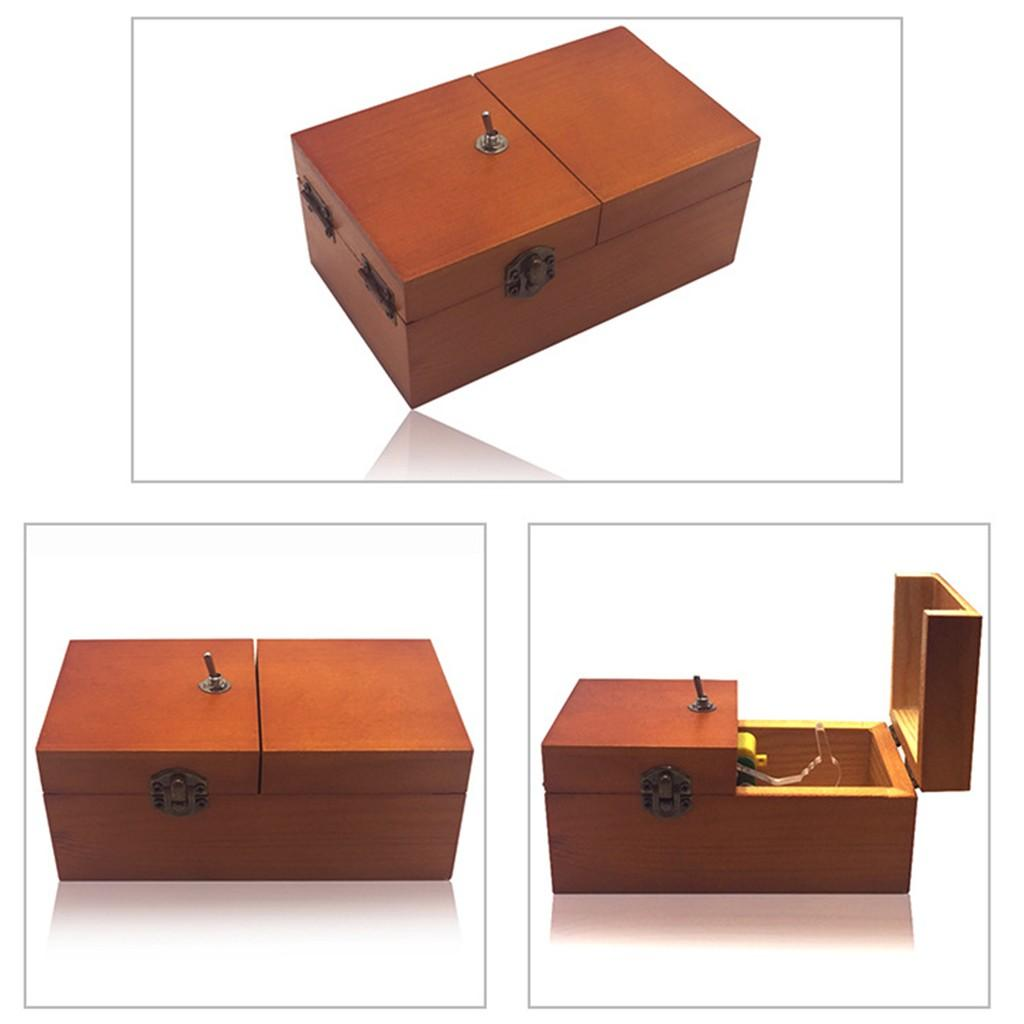 Useless Box Turns Itself Off In Box Alone Machine Fully Assembled in Box