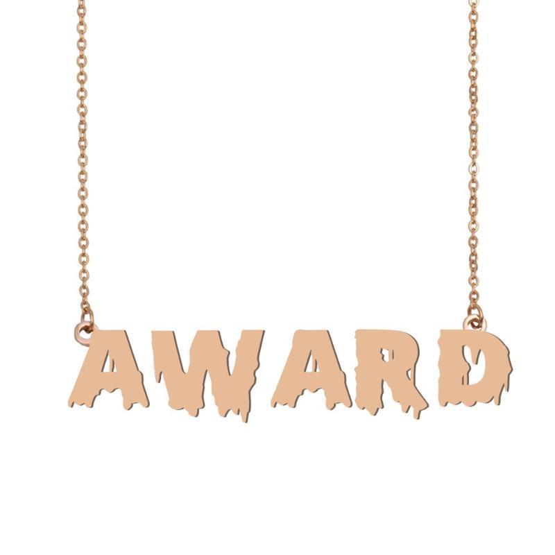 Premio Collana con nome, Rinfrescatevi sanguinosa Art Collana con nome per Halloween e il giorno di gioielli di Babbo Natale regalo per i capretti ragazze dei ragazzi