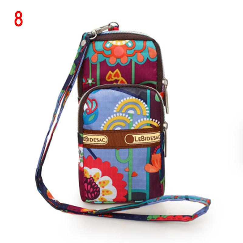 Nuovo arrivo Hanging collo raccoglitore della moneta borsa del telefono cellulare Pouch Stampato Mini spalla del braccio Bag
