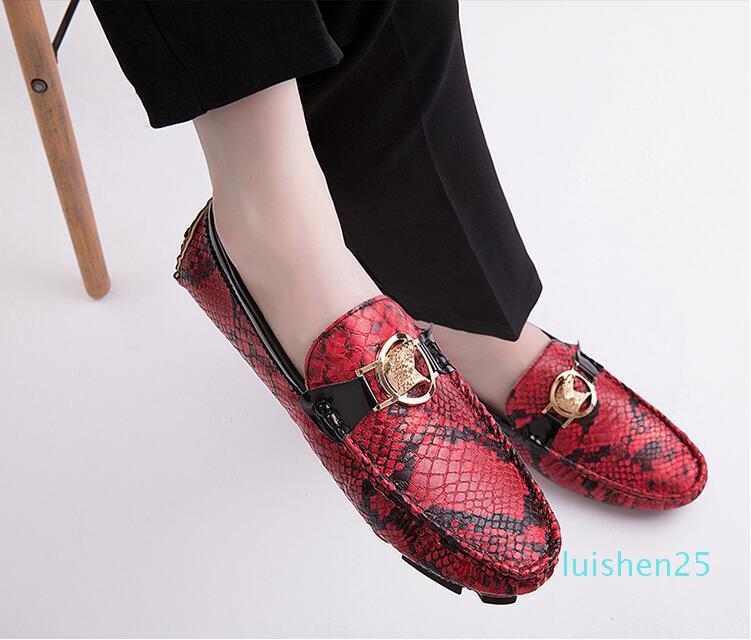 Große Größe Erbsen Schuhe Männer 2019 neue Netto-rot mit der koreanischen Version der wilden Persönlichkeit rot faule Schuhe Mode Faulenzer L25