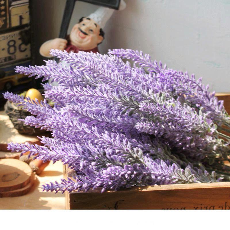 Romantico Provence decorazione di lavanda fiore di seta artificiale fiori grano Simulazione decorativa delle piante acquatiche
