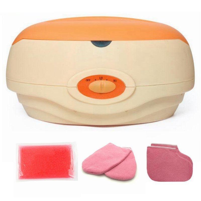 Mano paraffina riscaldatore balneoterapia cera Pot Warmer Beauty Salon Spa Scaldacera Apparecchiature Keritherapy sistema Arancione