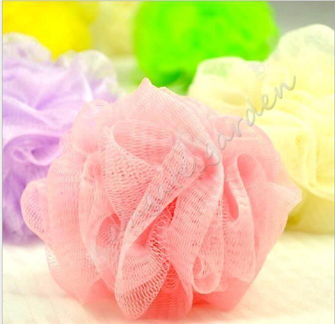 Мини-ванна душ тело отшелушивает слоеного губка сетка Сетка мяч губка аксессуары случайный цвет DHL