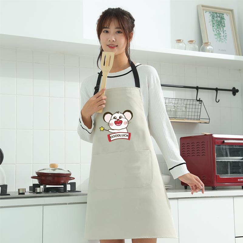 여성의 패션 손 앞치마 방수 귀여운 일본어 가정 한국어 주방 북유럽 스타일의 바지를 닦아