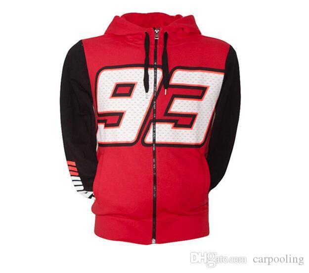 Yeni Erkekler Moto Repsol Kapüşonlular Hoody Ceket Kızılyıldız Tasarım İçin Honda gp yarış hoodieSweatshirts