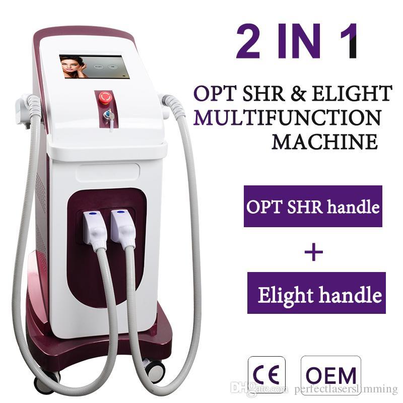 Высокое качество лазерного диода эпиляция OPT SHR эпиляция IPL омоложение кожи лазерное удаление волос оборудование 2 головы