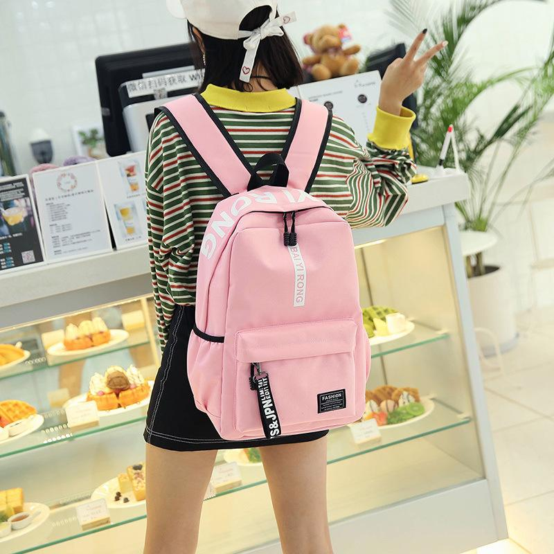 Superior2019 Woman Bag A High Middle School Student Campus Original Old Ulzzang Canvas Both Shoulders Package Will Capacity