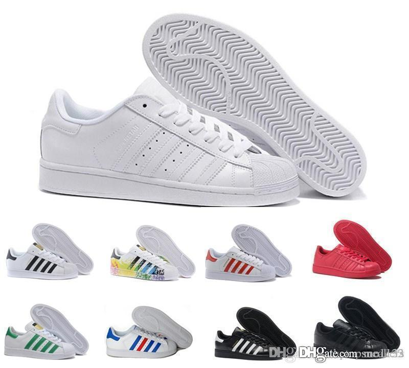 Classic Superstar White Hologram Iridescent Junior Superstars 80s Pride Sneakers Super Star Women Men Fashion Outdoor Walking shoes 36-45