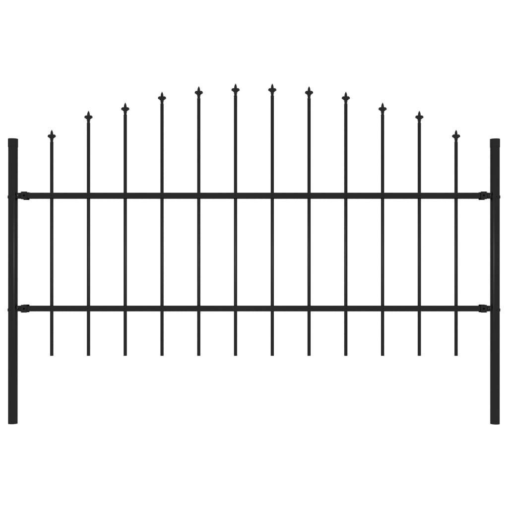 mızrak (0,75-1) Bahçe çit 1,7 m çelik siyah Bahçe Setleri x