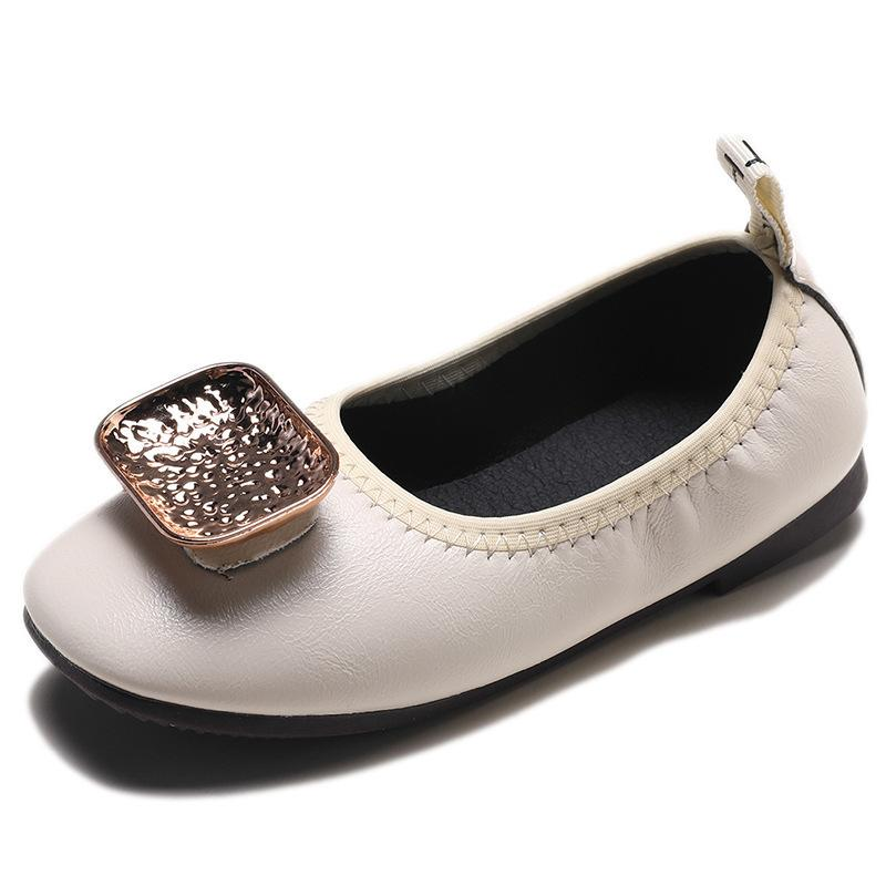 Autumn New Kids Princess Student Girls Leisure Shoes Bright drill Korean version leather pedal children's shoes