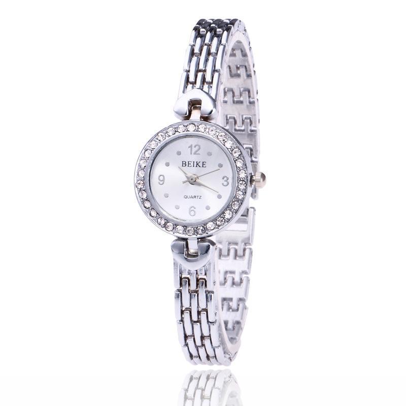 Relojes del Rhinestone nuevas mujeres de acero inoxidable relojes pulsera cuarzo de las señoras del reloj 629