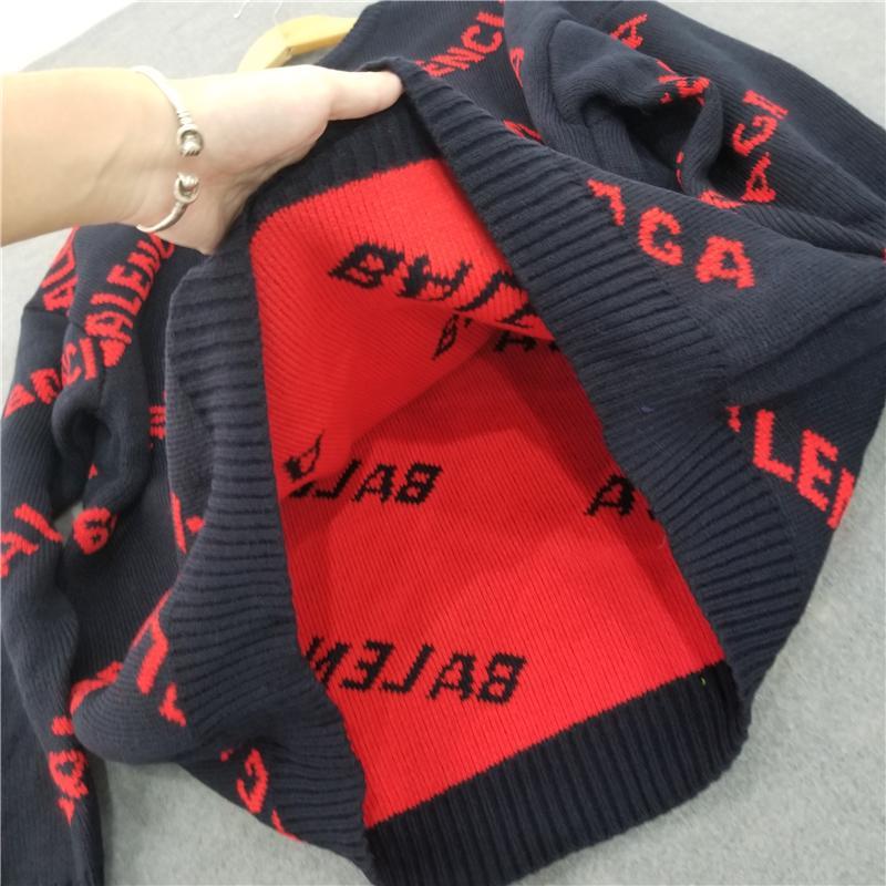 무료 배송 고급 울 스웨터의 경우 남성과 여성 최고 품질 스웨터 Multicolir 남여 풀오버 스웨터 S-2XL B104812W