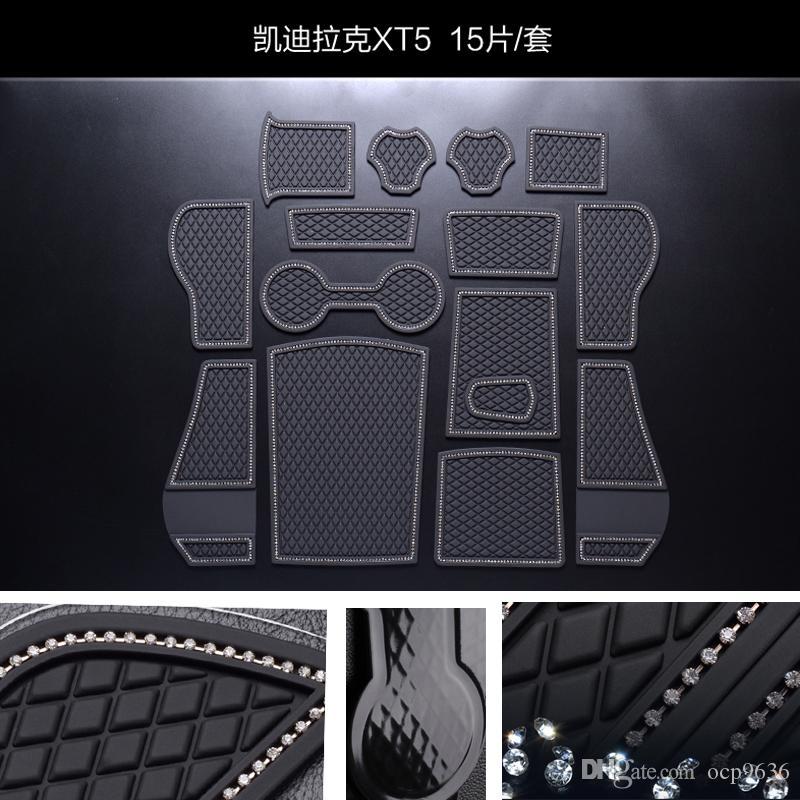 Для Cadillac XT5 Нескользящие коврики Ворота слот коврик Интерьер ПВХ Резиновые двери Pad / Кубок Мат