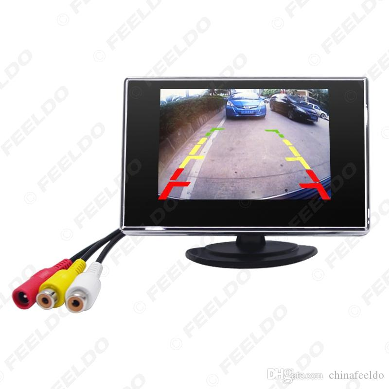 """wholesale Car Digital 3.5"""" TFT LCD Stand-alone Reverse Car Monitor for DVD VCR VCD Backup Camera #1308"""