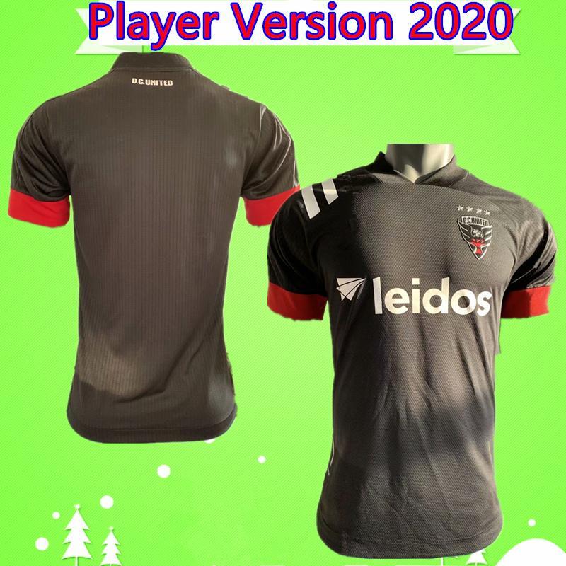player version 2020 2021 D.C. United Soccer Jersey ROONEY ARRIOLA ACOSTA HARKES STIEBER 20 21 DC United Black Football Shirt Thai Quality