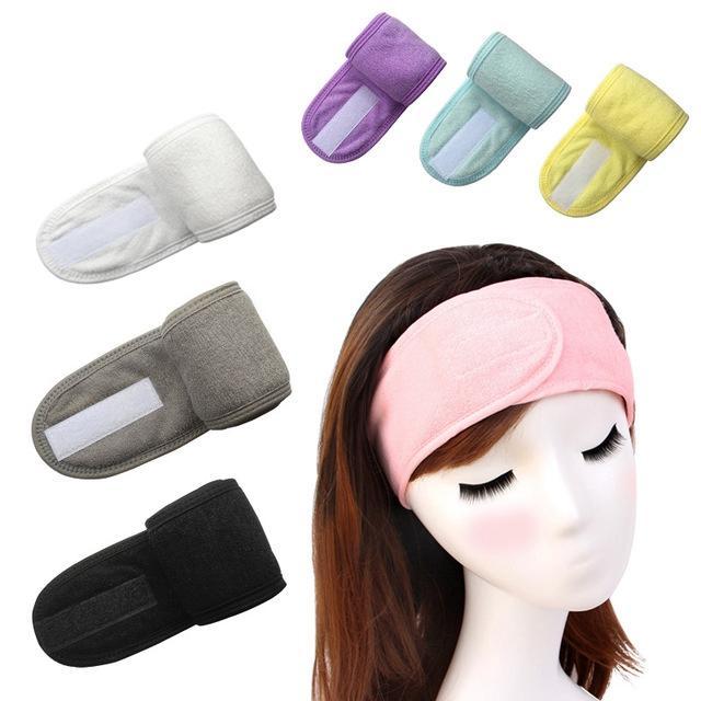 Spa Bagno Doccia Fasce volto di lavaggio capelli elastici Donne Sport Yoga Foulard tessuto cosmetico signore asciugamani compongono Tiara Fasce GGA3495