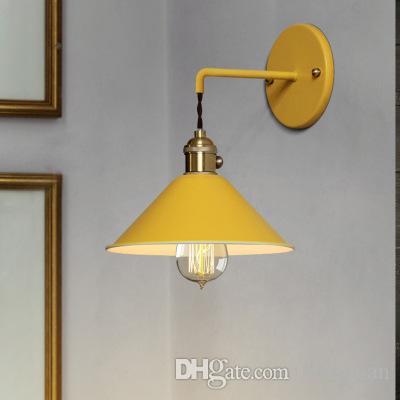 Moderna lampada da parete del lato del letto Edison navata sconce camera da letto Leggi Wall luce del bagno colorato E27 supporto di rame puro lampadari