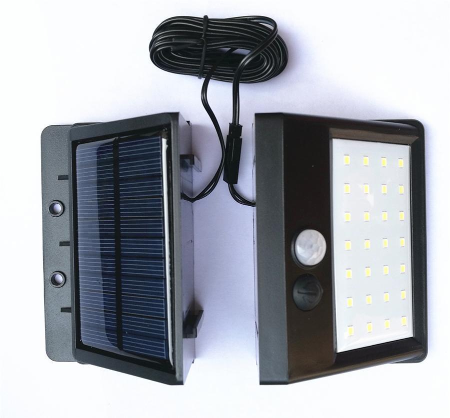 Bahçe Güneş Enerjisi Akıllı Hareket Sensörü Duvar Işık 20 LED 30 LED Su geçirmez Enerji Tasarruflu Ampuller Açık Sokak Yolu Güvenliği Lambası DH1185