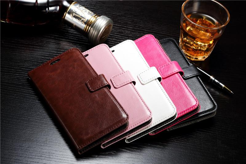 Wallet Phone Case For Iphone Case for Iphone X 8 /7 Plus Samsung S7 edge S6 edge Note 5 Note 4 Crazy horse Leather With Credit Card Slot