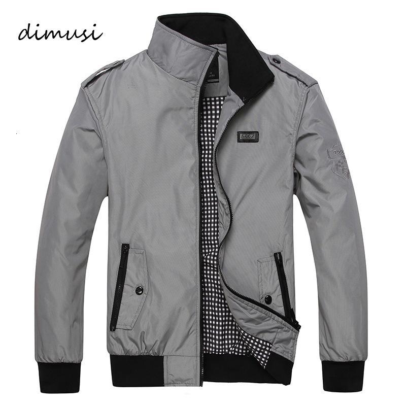 DIMUSI Herren Frühling Winter Jacken-Mantel-Männer Sportkleidung Motorrad Herren Thin Slim Fit Bomber-Jacken für Männer Marken-Kleidung 5XL S191019