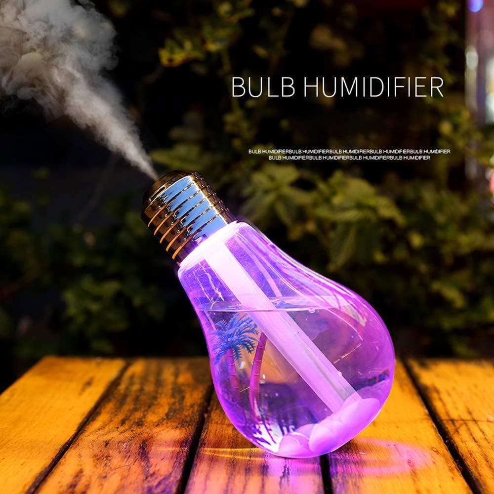 패밀리 룸 창조적 인 LED 음소거 전구 조명 가습기 공기 다채로운 빛나는 분무기 장식 야간 조명