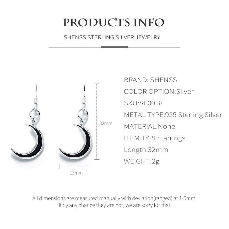 Sailor Moon Style 925 Sterling Silver Earrings Quality Drop Earring For Women Gift