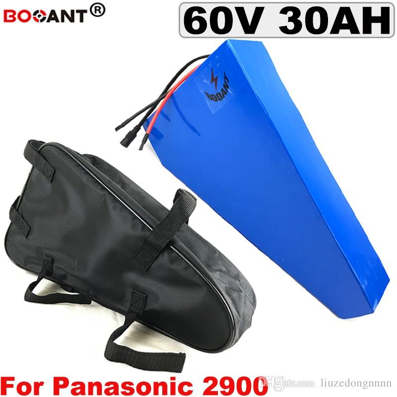 2000 Watt 1000 Watt 30 Ah 60 V dreieck E-bike Lithium Batterie 16 S 10 P 60 V wiederaufladbare elektrische fahrrad batterie für Panasonic 18650 zelle