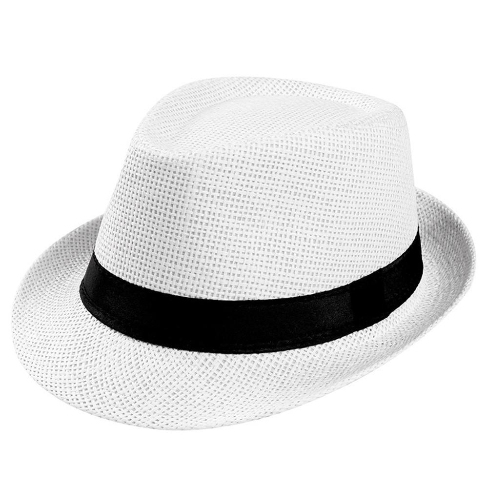 2020 Unisex sol chapéu de praia Chapéu de Sol Straw Banda Sunhat Praia Proteção Homens UV sol Grande