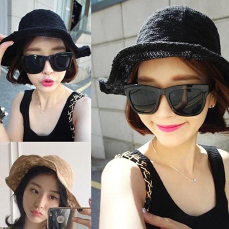 Livraison gratuite Hot 2019 A été femme Pliable chapeau de pêcheur crème solaire Spring Beach Pare-soleil Chapeau de soleil Dropshipping chapeau de paille Voyage