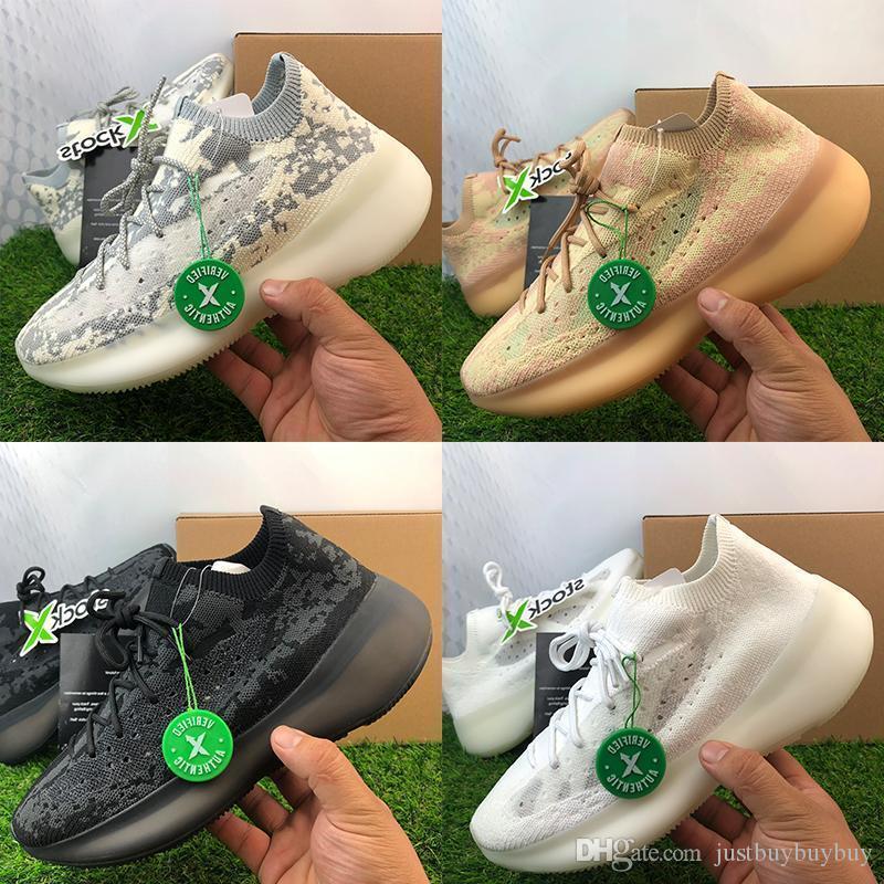 2020 Nuovo Alien 380 Kanye West Running Shoes Designer Shoes Uomini Donne argilla Beluga nero Mens di alta qualità con la scatola