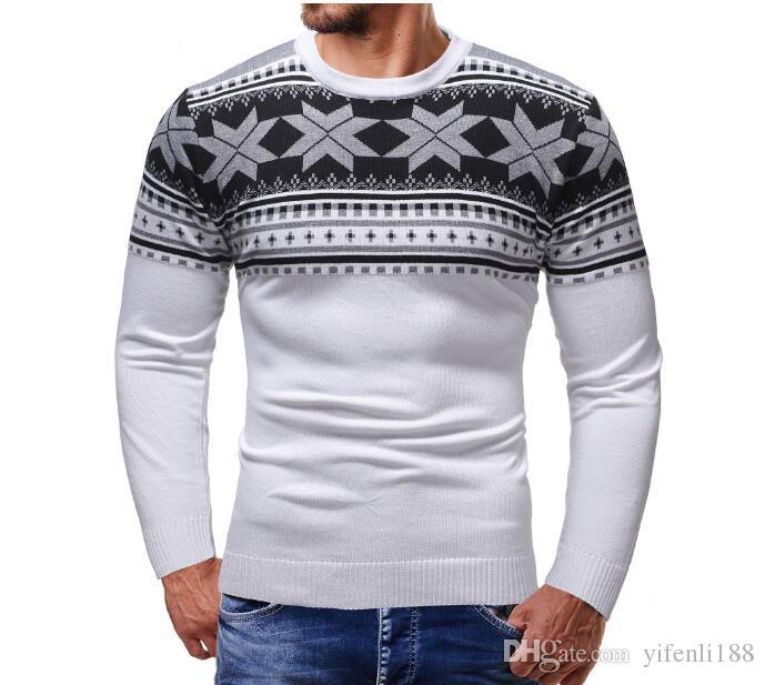 kerst trui 2020 2020 Heren Truien 2019 Christmas Autumn Men Sweater Pullover Trui