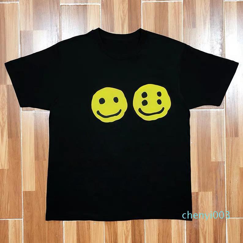 Cotone di alta qualità di stampa 19ss Logo Tee comoda di modo Coppie manica corta donna e degli uomini del progettista magliette S-XL HFKYTX041 t01c03
