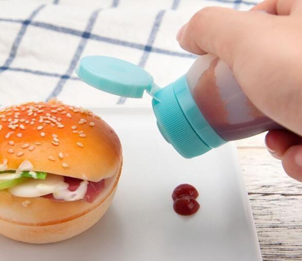 Kreative Küche Produkte Würze Flaschen, Silikon Würze Flaschen tragbaren Haushalts Flaschen Clamshell, 2 Stück verpackt