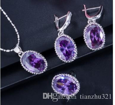 высокое качество низкая цена больше цвета Алмаз Кристалл свадьба невесты ювелирные изделия ожерелье серьги 26erfer