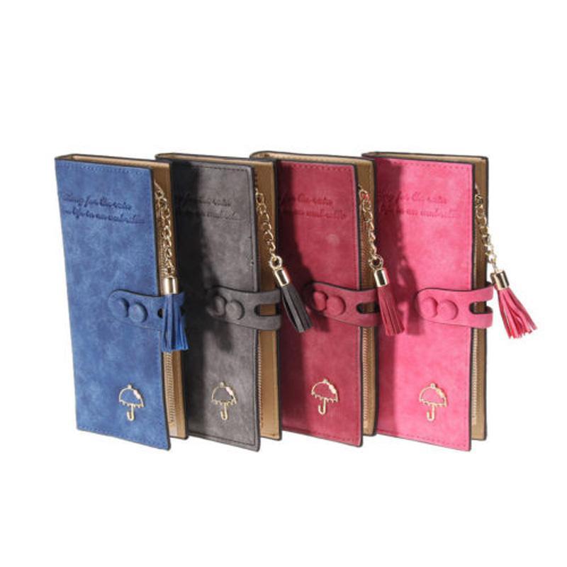 2019 새로운 패션 여성 PU 가죽 Bifold 지갑 클러치 카드 홀더 지갑 숙녀 긴 핸드백 내구성을