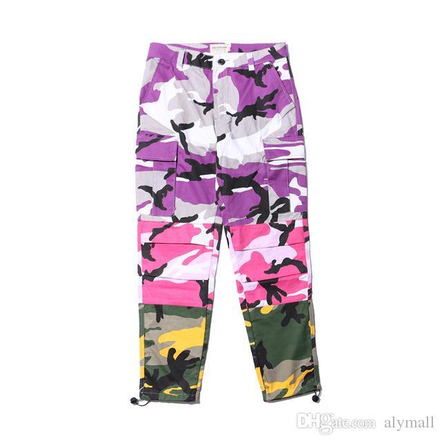 Camo Patchwork Kargo Pantolon erkek Hip Hop Rahat Kamuflaj Pantolon Moda Streetwear Joggers Sweatpants boyutu
