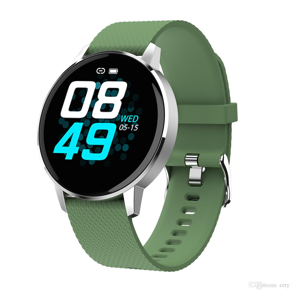 Donne Per Xiaomi Huawei originale T4 intelligente Orologio vetro Fitness Tracker Heart Rate Monitor uomo impermeabile Bluetooth temperato