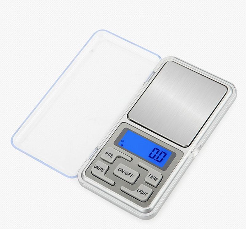 Mini balanza de bolsillo digital 0.01 gramos Escalas de joyería para Bijoux de diamante de plata esterlina Balanza electrónica