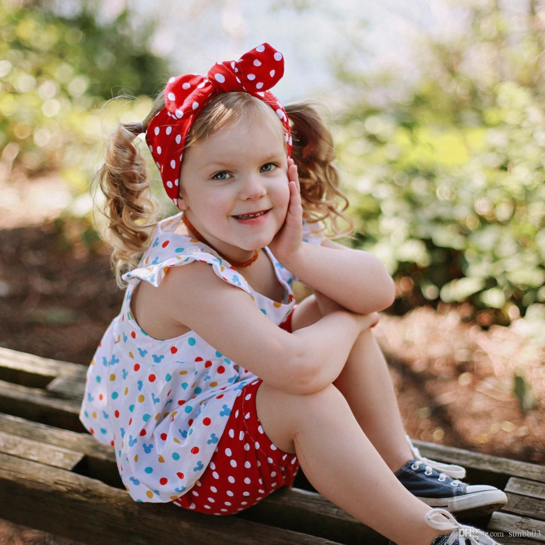 Crianças Headband do bebé pontos bowknot Turban torção Envoltório principal torcida Knot Faixa de Cabelo crianças Bandanas Bandanas 8 cores 14770