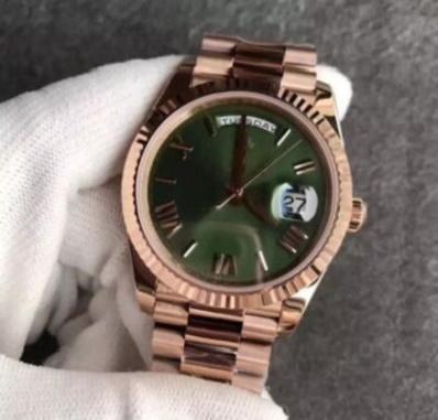 2020 vente chaude visage or rose 18 carats boucle originale Mens Watch Day-Green Président 116-719 Automatique Montres Hommes Livraison gratuite 58741
