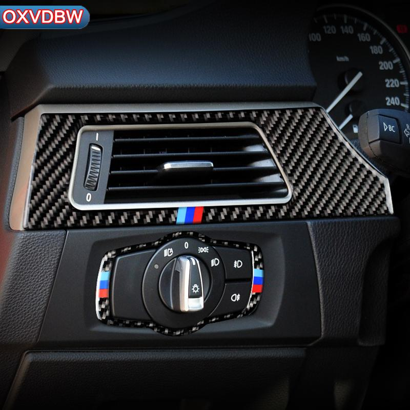 2021 For Bmw E90 E92 Accessories Headlight Switch Air Conditioner Vent Outlet Cover Styling Carbon Fiber Decoration Interior Mouldings 3 Series From Oxvdbw 11 11 Dhgate Com