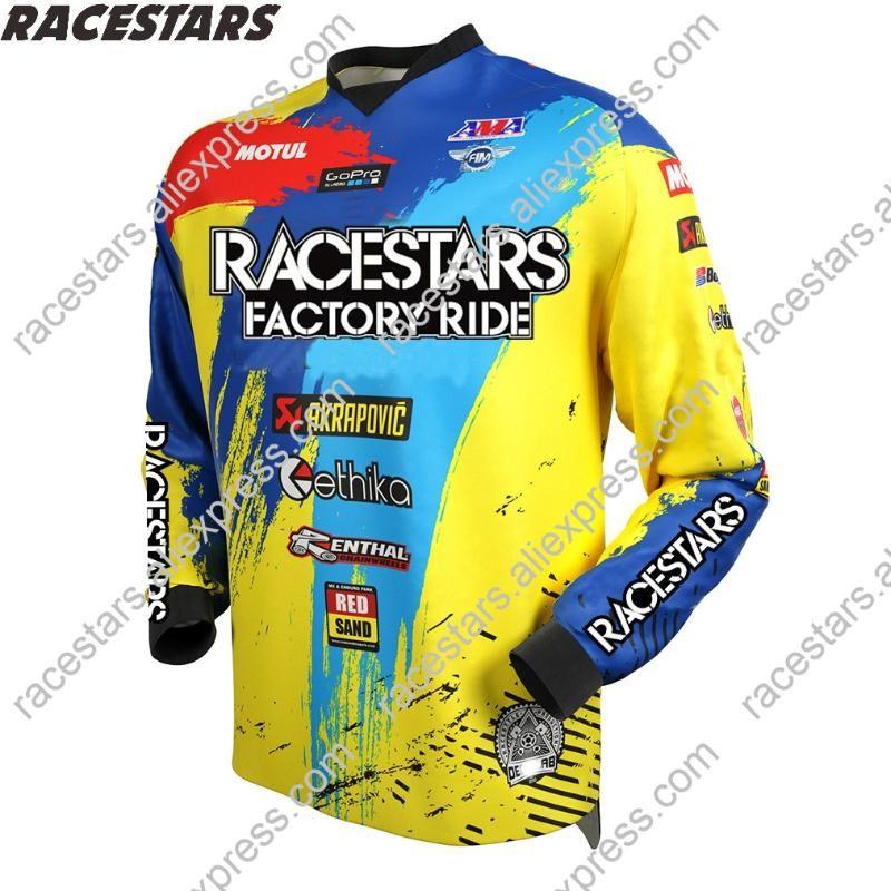 RACESTARS Motocross Moto Jersey mountain bike clothing MTB bicycle T-shirt DH MX Bicycle shirts Offroad Cross Cycling Jersey