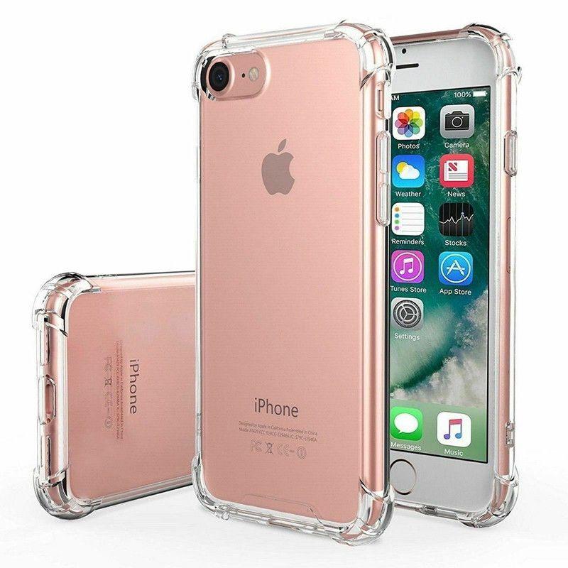 Para iPhone 6 Plus claro e transparente Casos à prova de choque Capa protetora TPU PC Silicone Híbrido robusto Telefone Shell para Iphone 6s Além disso,