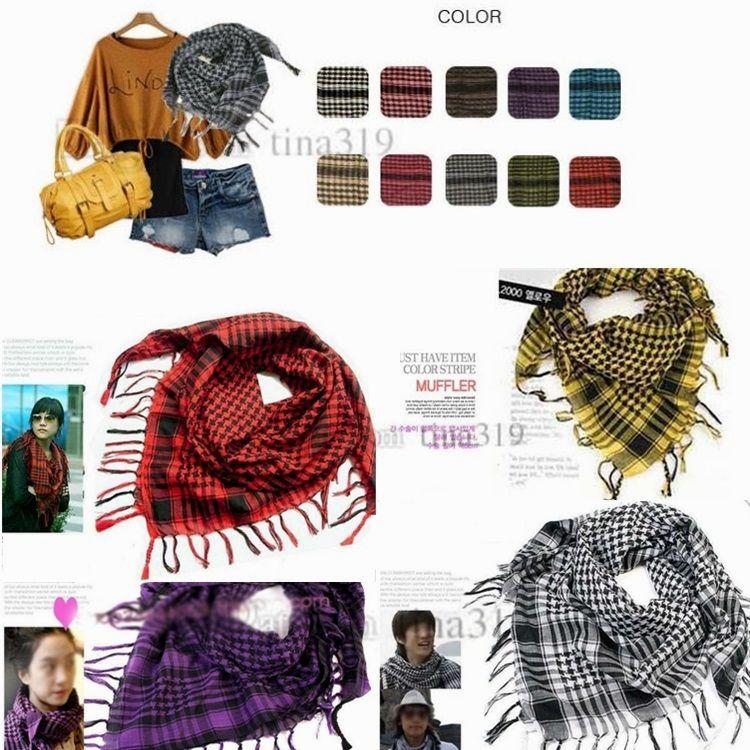 Novo estilo comum Esporte Cachecóis lenços mágicos ao ar livre árabes O soldado livre livre lenços de cabeça xale feito de puro algodão Árabe Lenços C0114