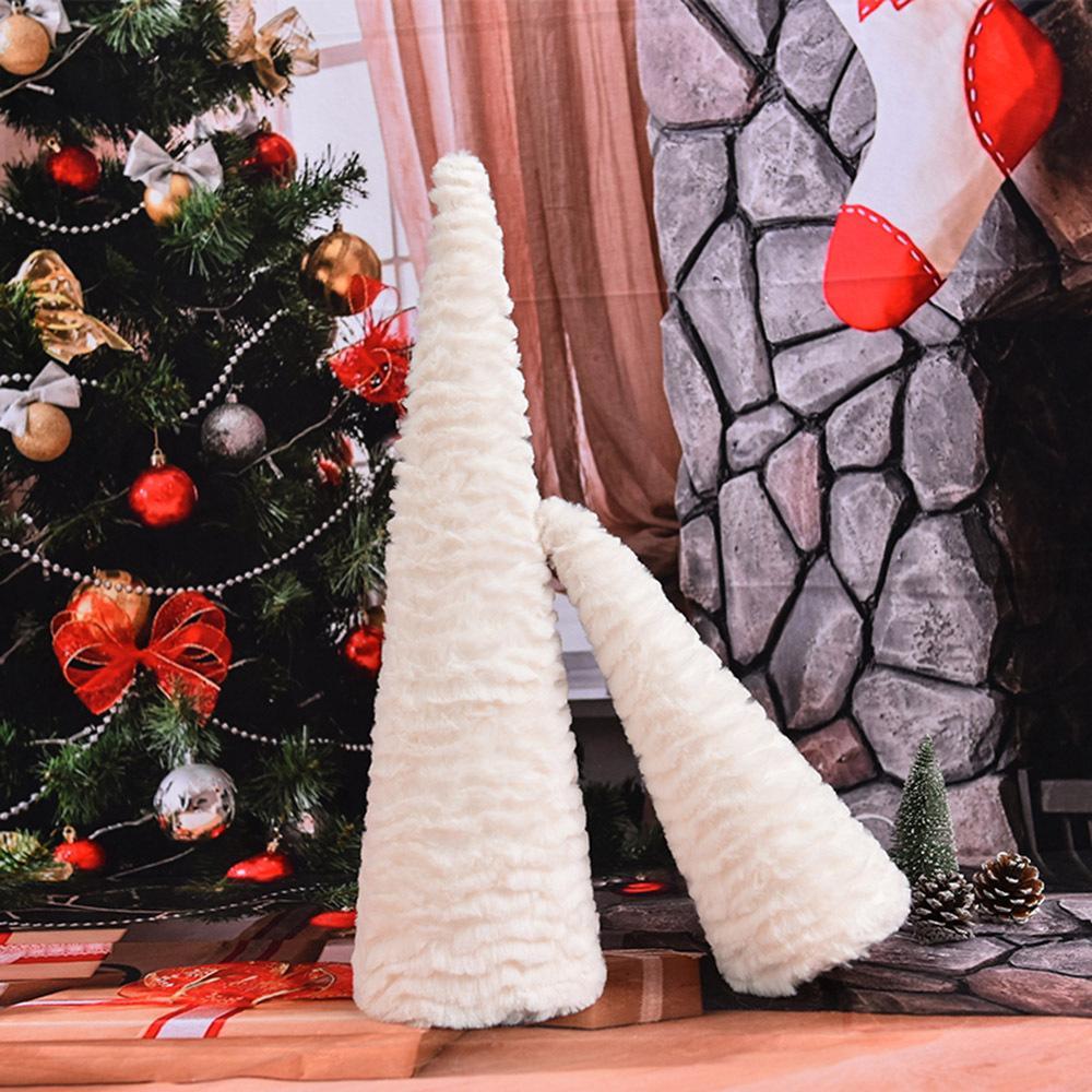 Flannelette de copos de nieve Decoraciones de festivales de Navidad blanca Hogar Sobremesa artificial Mini adorno de árbol de Navidad