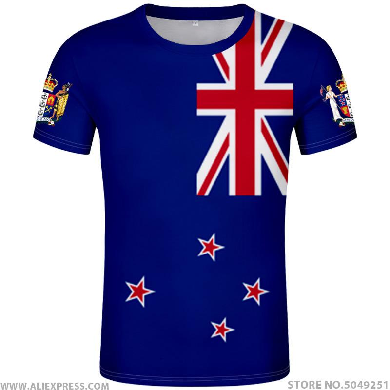 NEW ZEALAND t shirt diy free custom made name number nzl t-shirt nation flag nz maori country college print photo logos clothing
