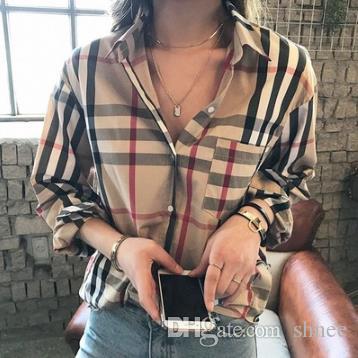 Women Casual long sleeve shirts men and women Fashion lattice shirts kanye west Retro Harajuku streetwear t shits