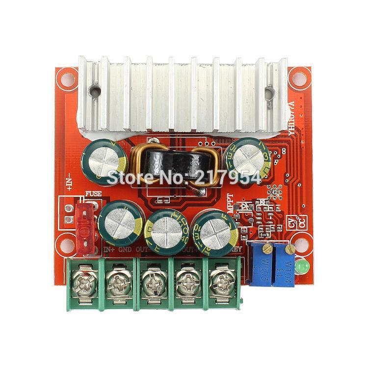 Freeshipping 10Pcs/Lot 100W DC4~32V To 0.8~32V 8A Buck/Boost Converter Automatic Step Up/Down Module Car Charging Regulator LED Driver