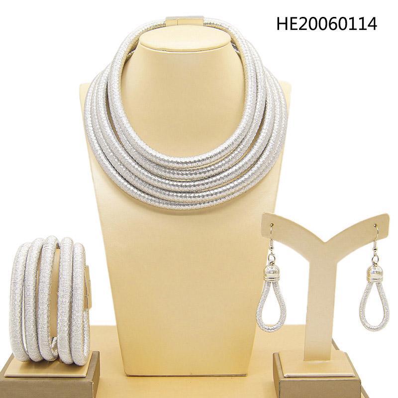 Yulaili Moda Conjunto de Jóias Mulheres Bohemia África Gargantilha Colar Brincos Bracelet conjuntos de jóias Declaração Magnetism Botão