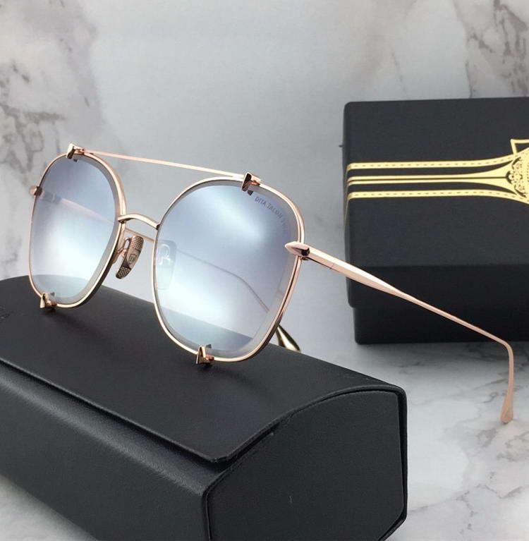 Lunettes de soleil Pilot Gold / Gold Flash Lens Lunettes de soleil de luxe Design Shades Shades UV400 lens talon Two Glasses Nouveau